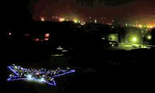 「アゲハチョウ(むつ市の夜景)のミニ夜景」写真