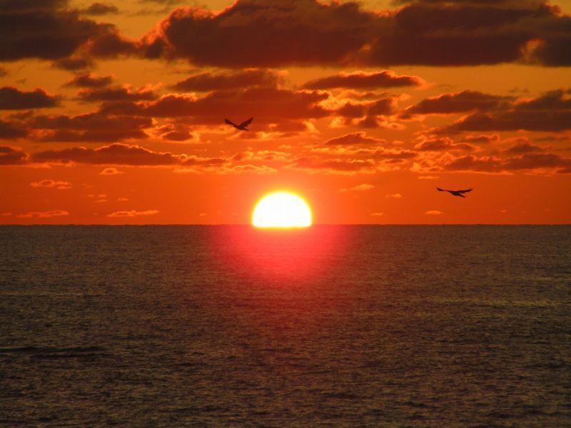 夕陽海岸深浦絶好の撮影スポット