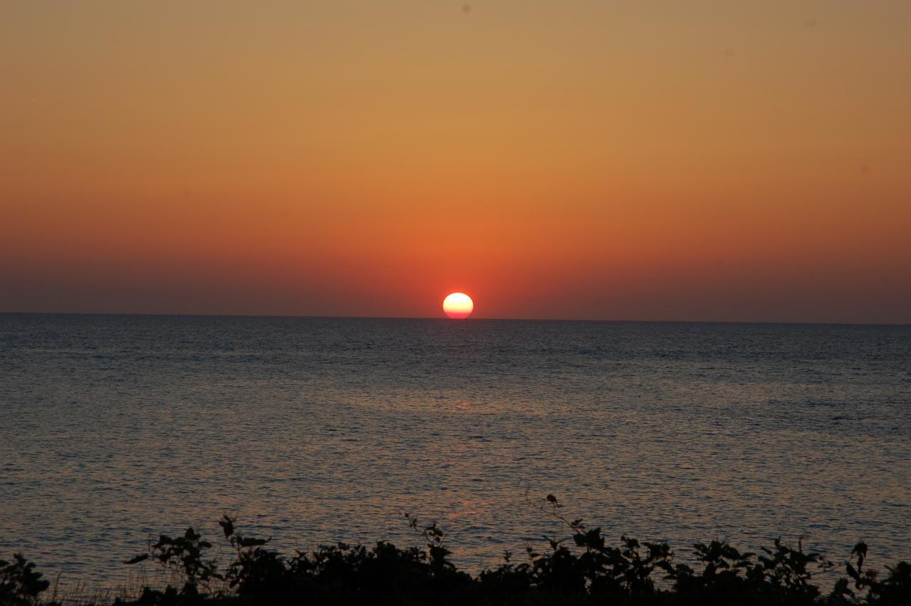 感動!行合崎の夕陽。