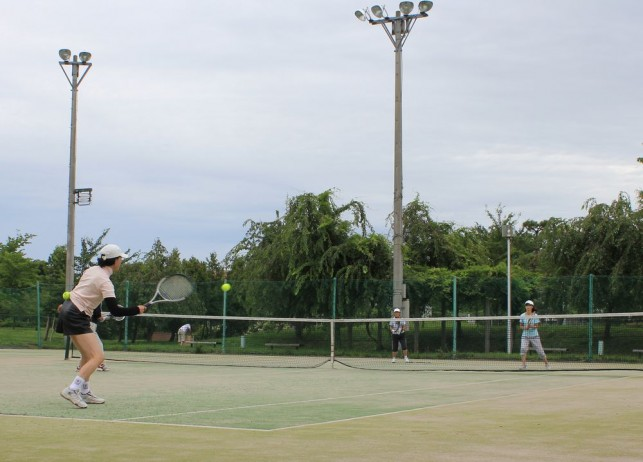 熱中症知らずのテニスクラブ@鶴田町