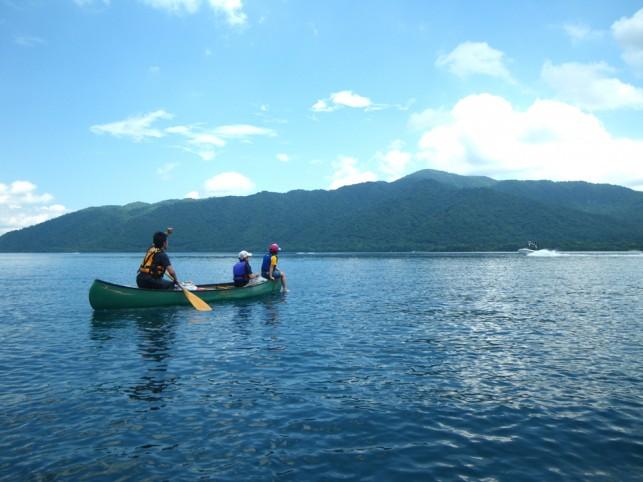 十和田湖カヌー体験