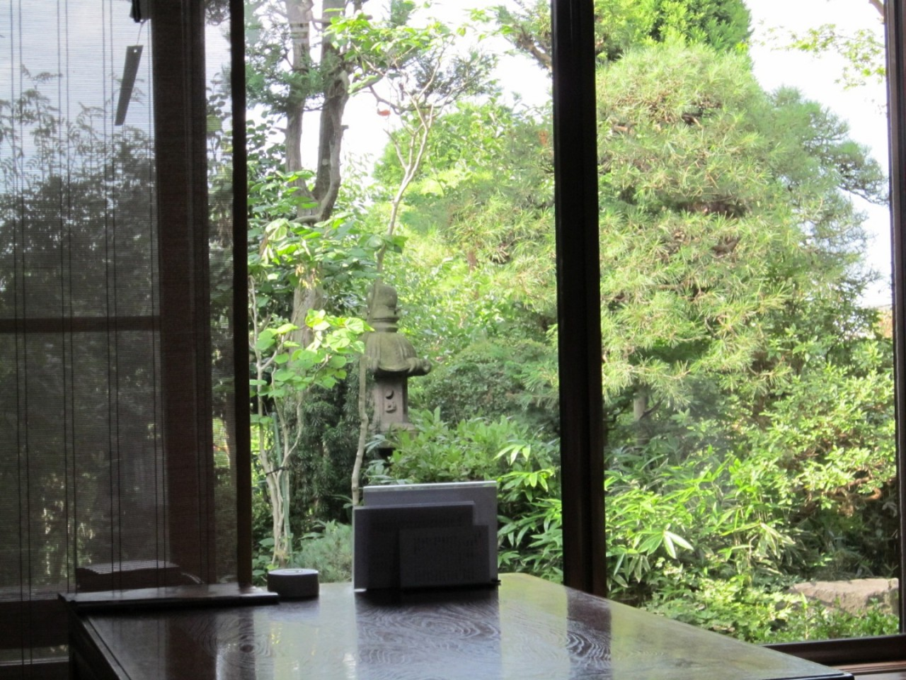座敷側の庭