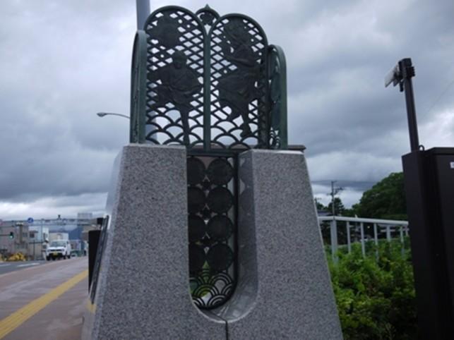 堤橋の欄干