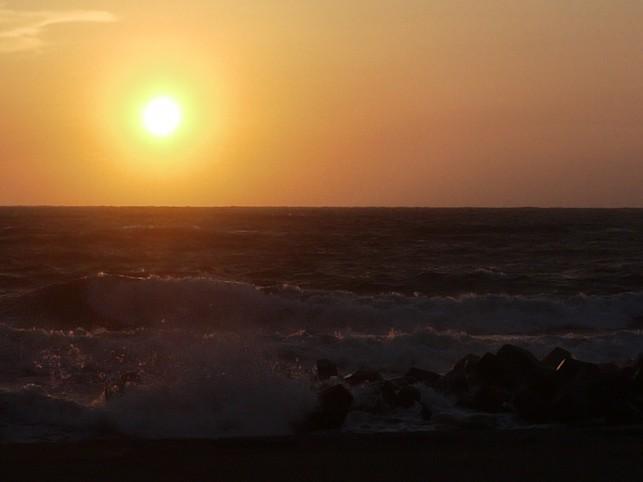 画像:夕陽