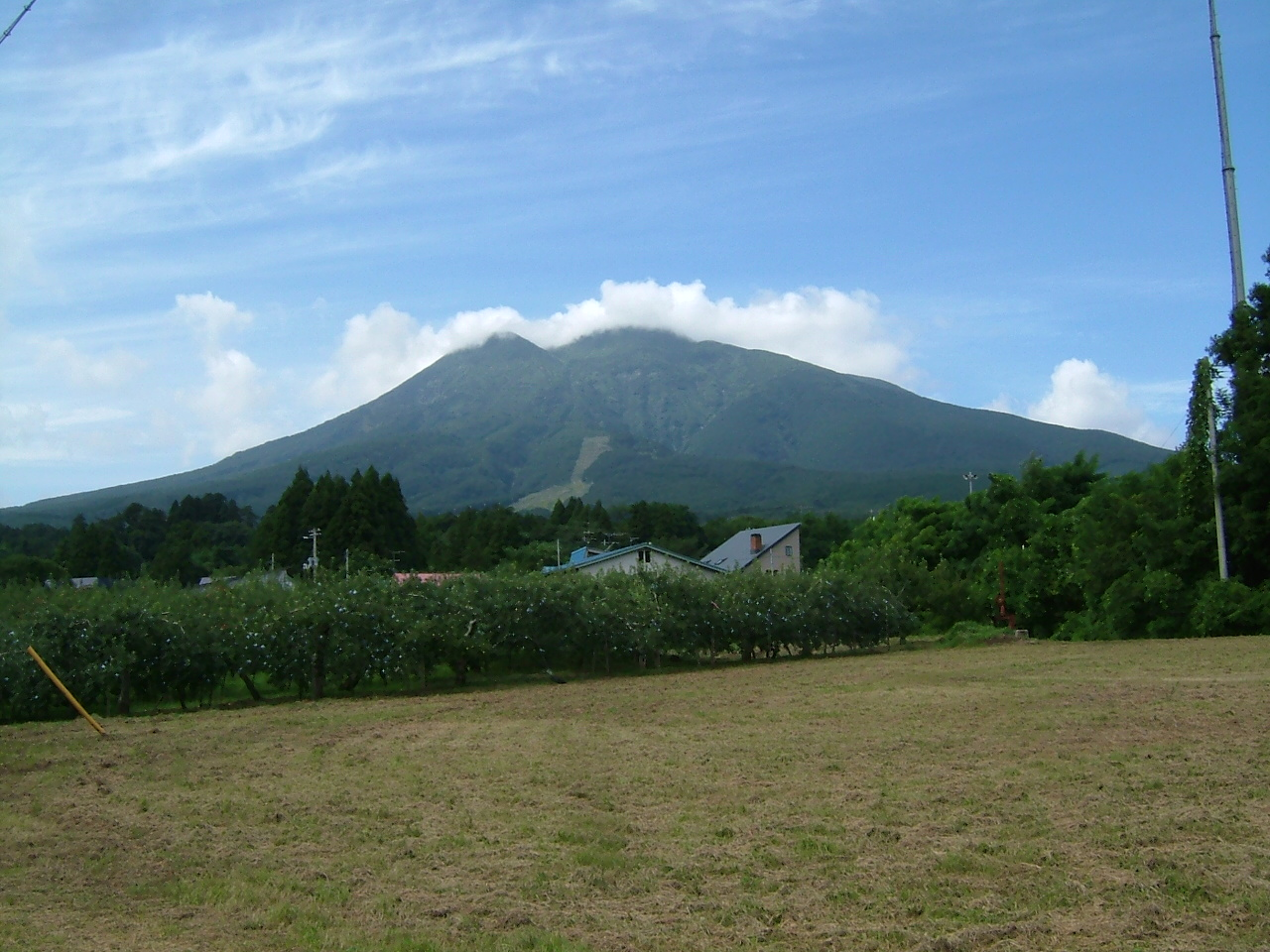 青森 風景 夏 秋 津軽 岩木山 緑