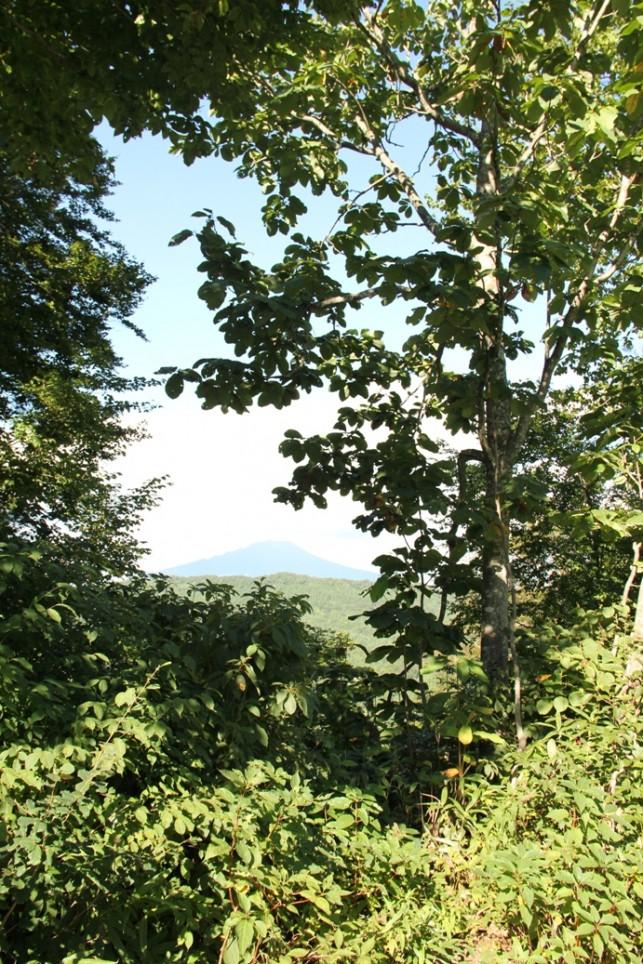 白神山地から見た岩木山