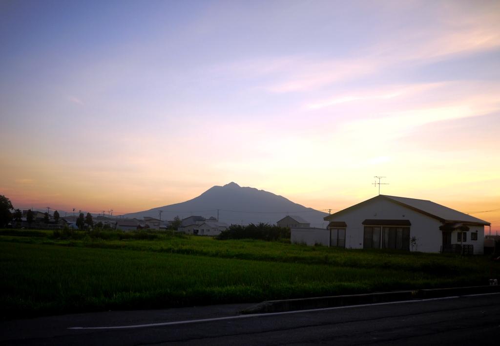 青森 風景 秋 夏 津軽 岩木山