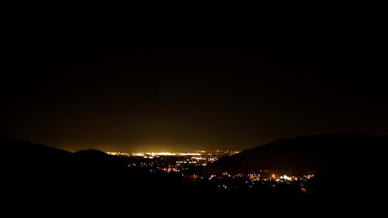 青森 風景 夏 秋 津軽 大鰐町 国際スキー場 山 夜 光