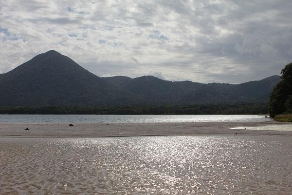 青森 上北 むつ市 風景 宇曽利山湖 極楽浜 秋 恐山 霊場