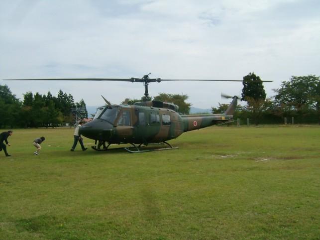 自衛隊航空機UH-1体験搭乗♪