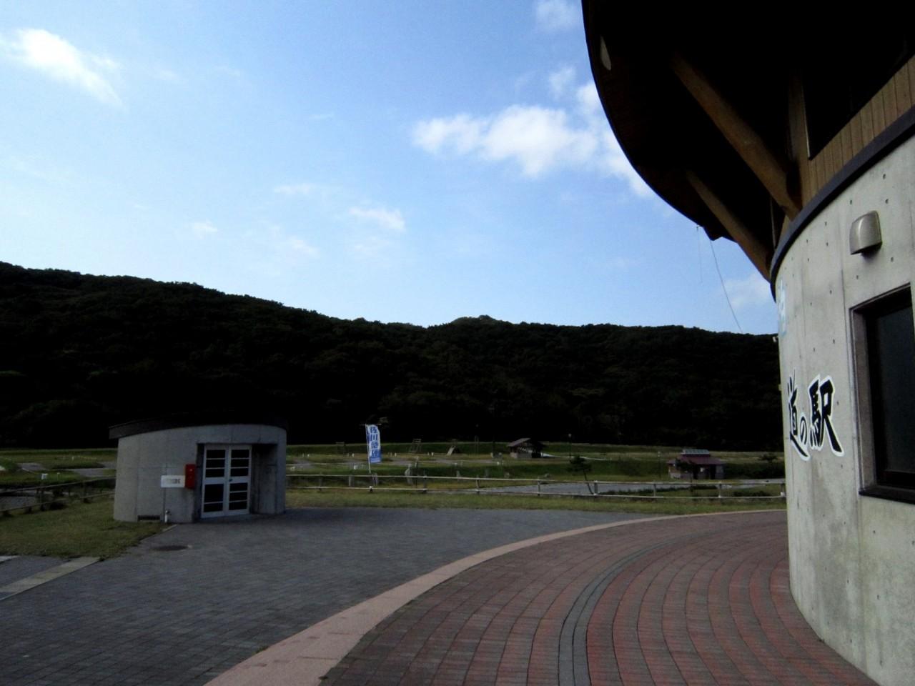 青森 風景 秋 津軽 中泊町 道の駅こどまり フリーテントゾーン