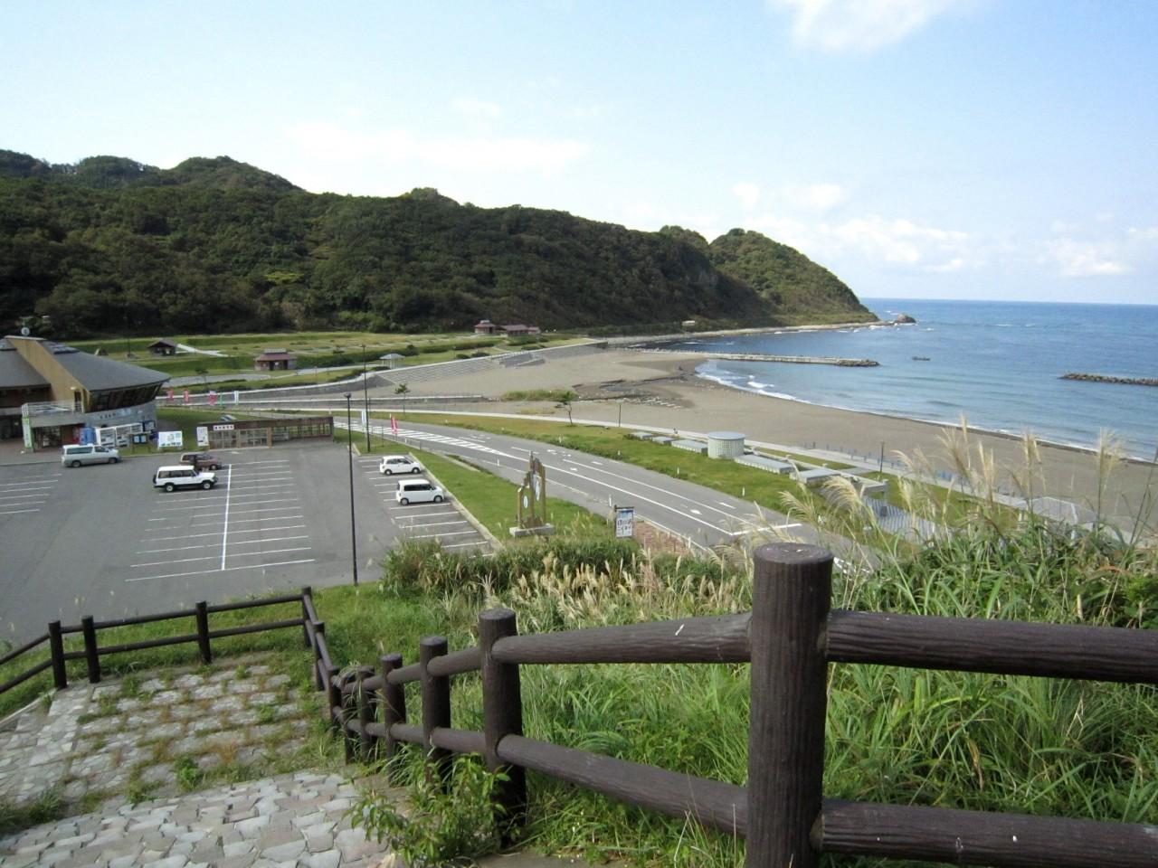 青森 津軽 小泊 道の駅 晴れ マリントピア 海