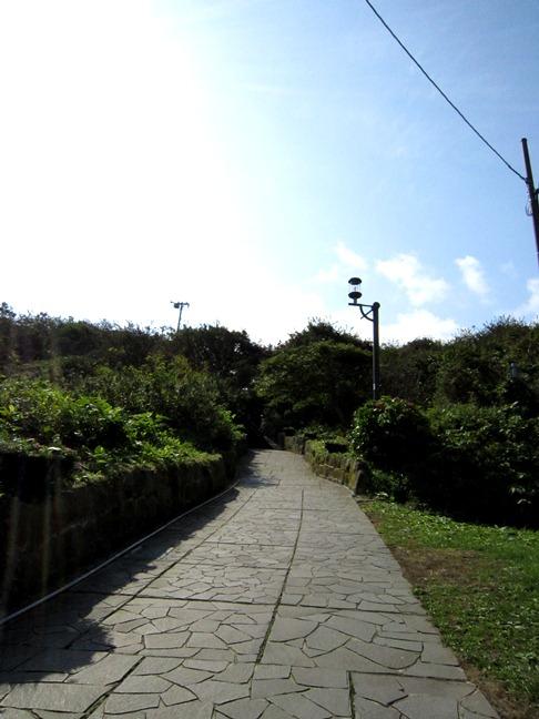 青森 風景 秋 津軽 弘前市 階段国道 自然 街灯