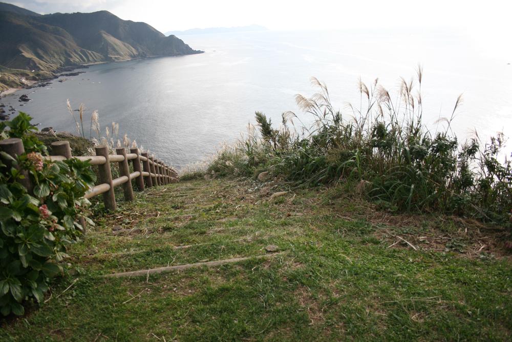 青森 風景 秋 竜飛 展望台 階段 海岸