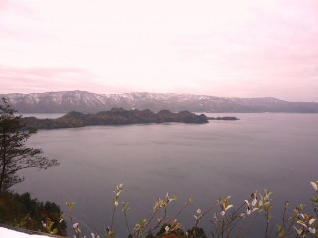 秋色の冬 十和田湖