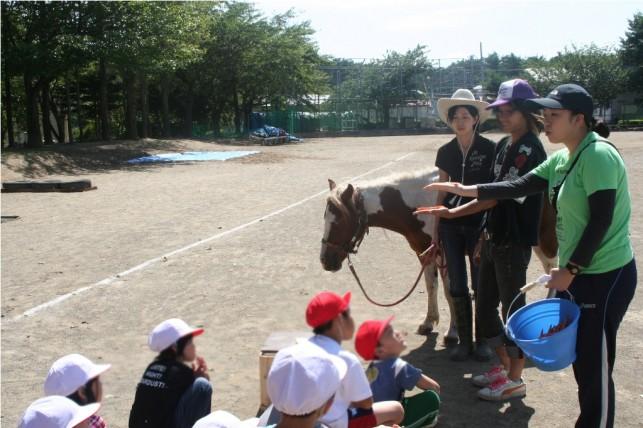 移動乗馬教室♪未来の子供たちのために☆