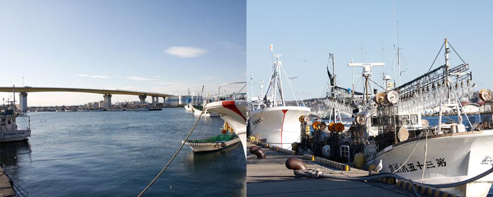 青森 風景 海 船 漁業