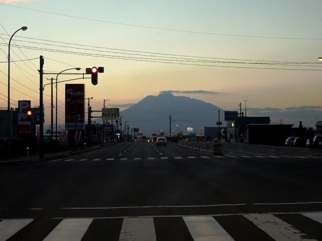 岩木山まで、まっしぐら?
