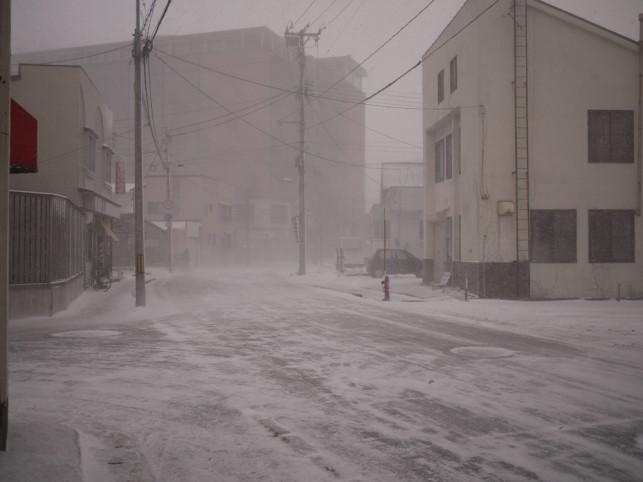 """一足お先に""""地吹雪体験""""(*_*)"""