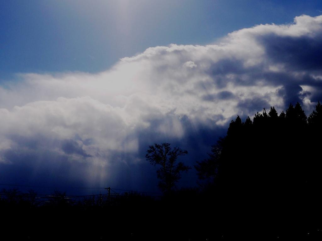青森 風景 冬 三沢市 十和田市 七戸十和田駅 空 太陽 雲 光