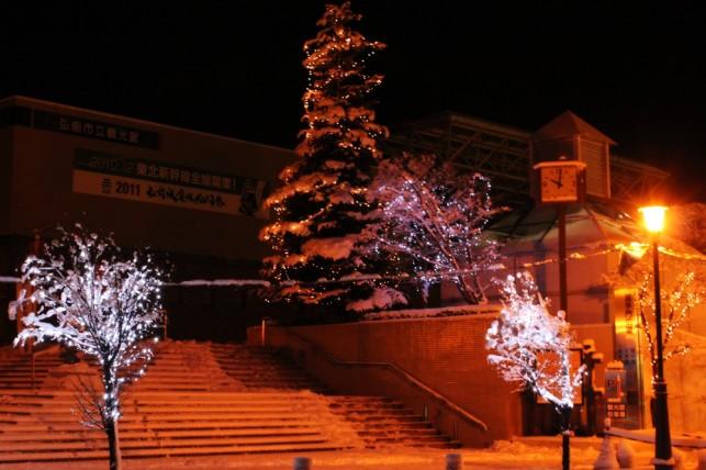 クリスマスツリーと広場1