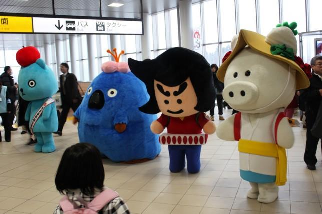 新幹線だよ!全員集合!!ミッキーも来たよ!!!「新青森駅」開業 ~青森市~