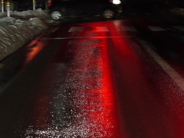 冬道、夜の運転は・・・怖いです(>_<)