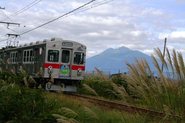 岩木山と弘南鉄道