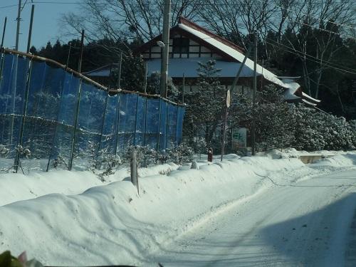 雪景色ウォッチング@三沢市駒沢集落付近