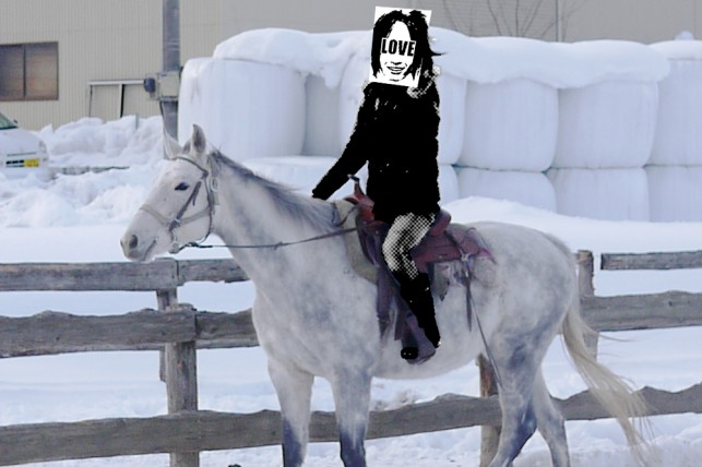 あやかっくん乗馬中