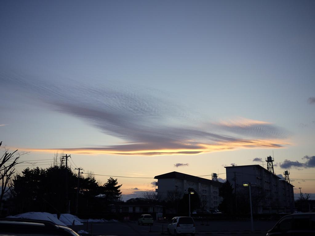青森 三八 三沢市 風景 夕方 春 雲 鳳凰 自然 空