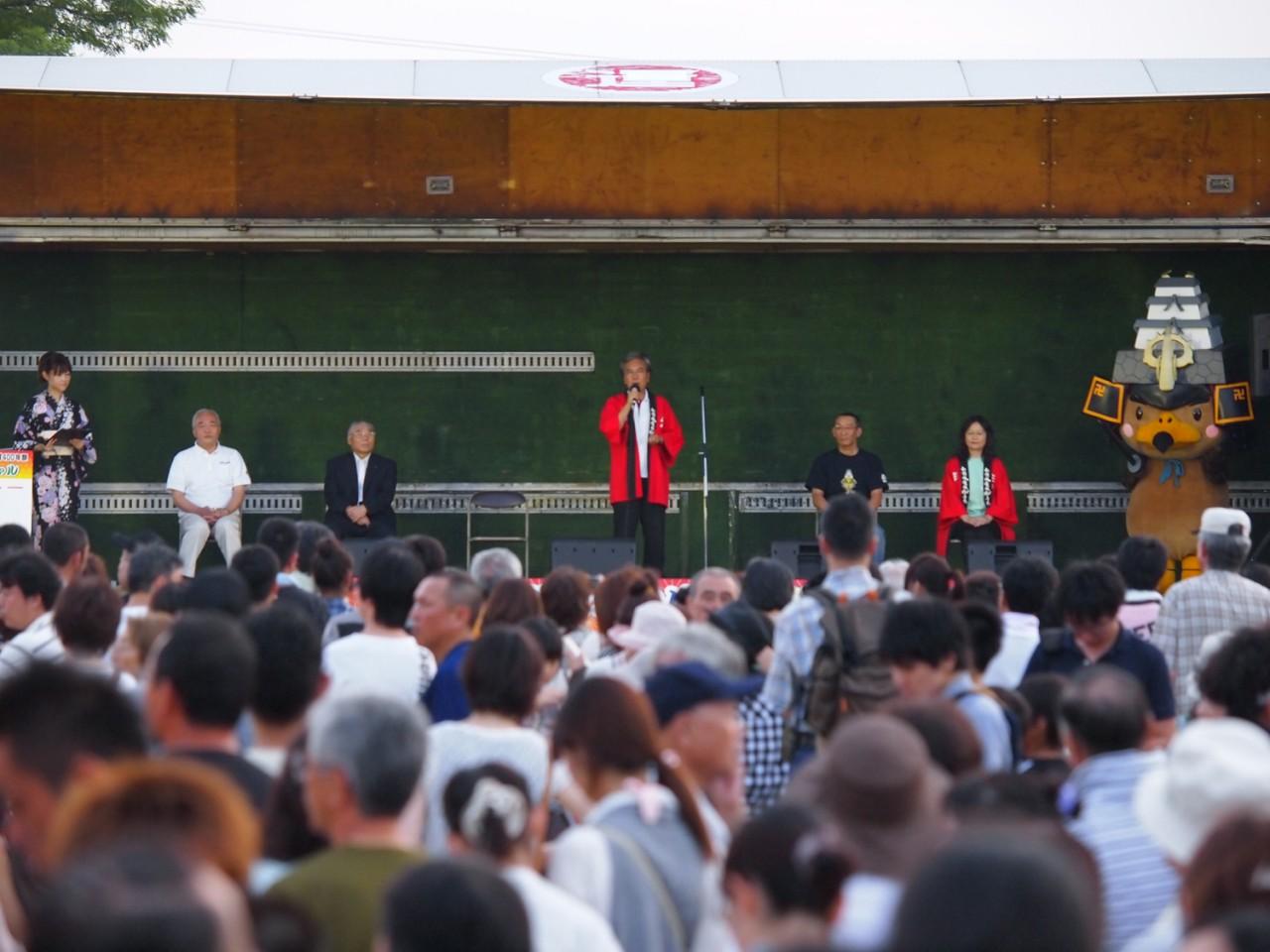 本イベントにかける情熱が感じられた葛西市長の挨拶。鷹丸くんも神妙な面持ちです…。