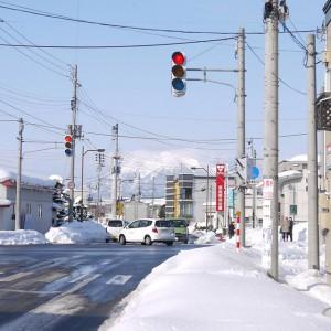 ごちゃごちゃしてますが、毎朝平賀駅へ方向へ向かうので見えている時は気持ちがいいですね♪(平川市)