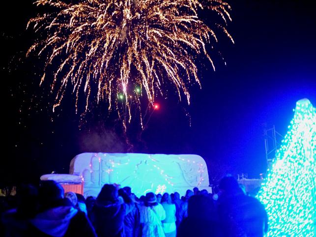 雪とイルミネーションと冬花火の饗宴~十和田湖*冬物語2012~