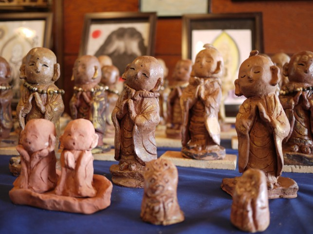 お地蔵さんと7人の陶芸展